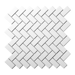 Mozaika WHITE HERRINGBONE