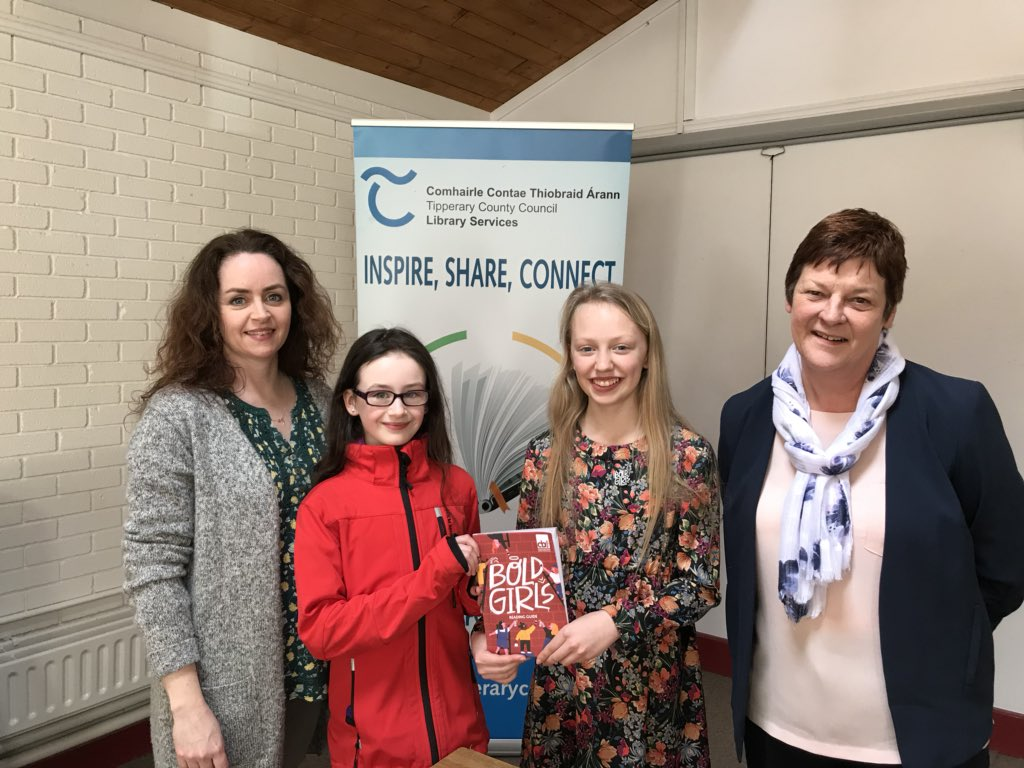 Book Ambassador! Sarah enjoying her talk at Clonmel Library promoting book reading. Research has shown that libraries and librarians are so important to kids education and grades and proven to improve the overall grades of a school by having a library and a librarian in one.