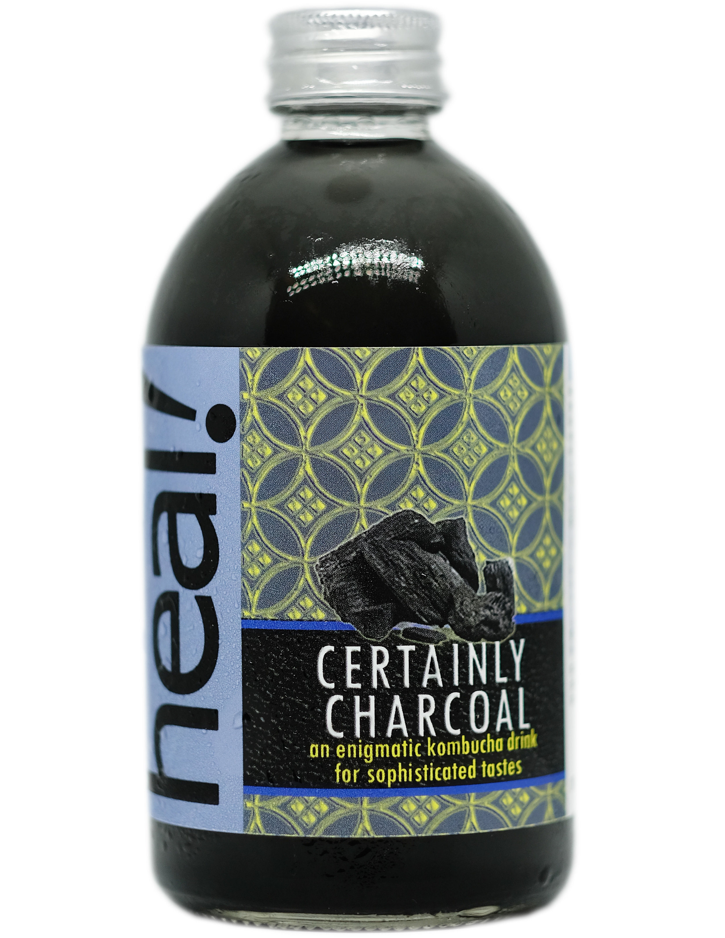 Since ancient time, charcoal has been viewed as an antidote. Now we know that it has myriads of benefits, among others as natural treatment for lowering cholesterol, detoxifying body, treating cases of poisoning or drug overdose.  In culinary world, no wonder that charcoal is now all the rage.  This drink blends highest-grade activated charcoal with mighty live probiotics from kombucha (fermented tea). Since charcoal adds almost no taste, this drink tastes pure and simple, with a tang and effervescent qualities that are quite refreshing.  Ingredients: Mineral Water, Kombucha Cultures, Java Oolong Tea, Natural Cane Sugar, Food-grade, highest-grade activated charcoal  Calorie 40, Sugar 3 grams per 175 ml before second fermentation, by which process reduces calorie and sugar content further and create fizz.  Packaged in 100% recyclable, reusable,  refundable  glass bottle, 370 ml.  RECIPE  click here   CONTACT US  click here