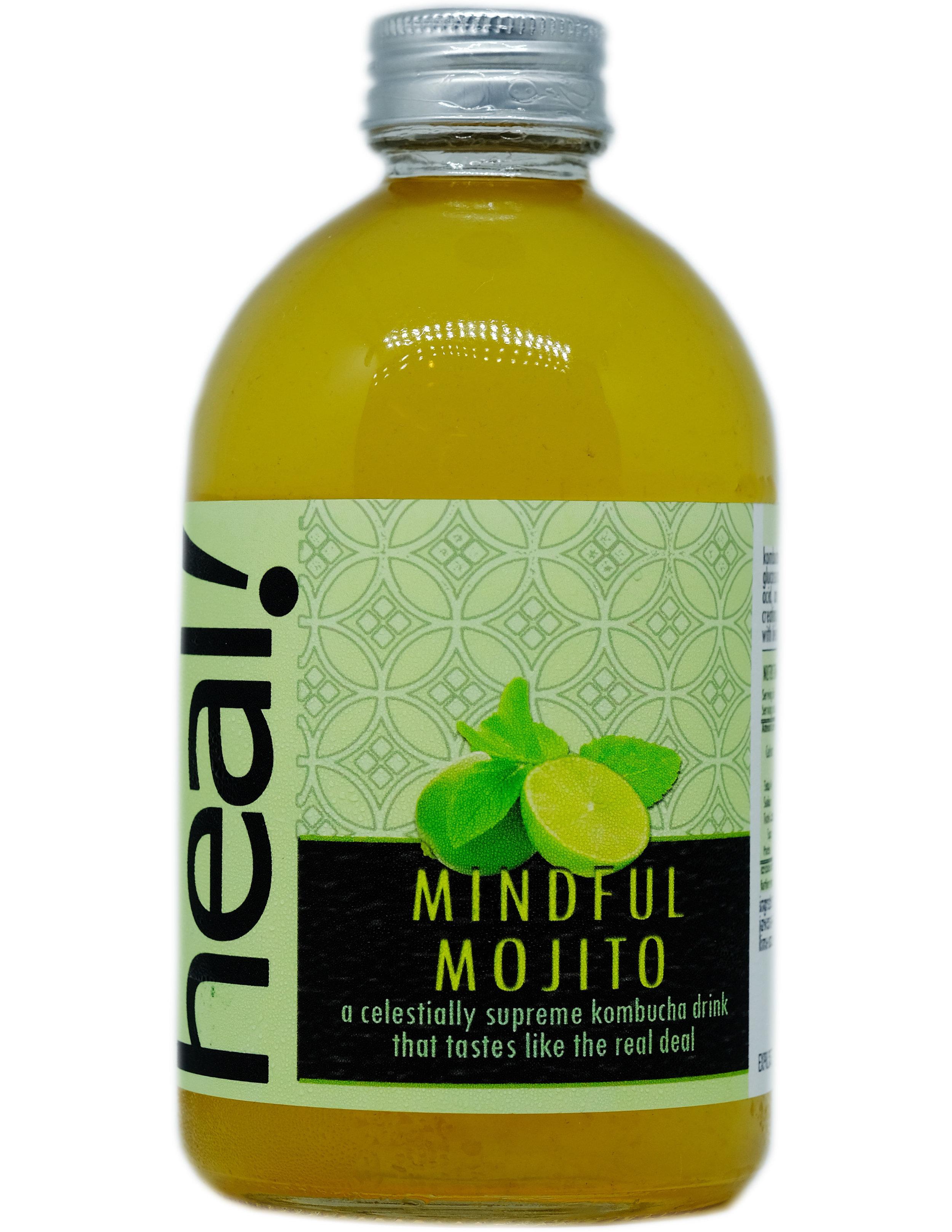 Minuman Mojito sangat popular di dunia. Berasal dari Mexico, asli Mojito dibuat dengan cara menggerus daun mint dengan gula kasar dengan semacam ulekan, lalu ditambah jus jeruk nipis, es dan rhum.  Mindful Mojito kita halal, tidak mengandung alkohol. Rasanya? Ditanggung tidak kalah dengan Mojito asli Mexico, dan pastinya jauh lebih sehat dengan kandungan probiotik dari kombucha. Mengandung vitamin dan antioksidan, rasanya segar sekali sehingga sangat cocok untuk pemula kombucha. Jangan lupa, daun mint pun sangat sehat dan berkhasiat untuk membantu pencernaan. Ayo dicoba!  Komposisi: Air Mineral, Kultur Kombucha, Teh Jawa Oolong, Gula Tebu Alami, Jus Jeruk Nipis Segar, Daun Mint  Kalori 45, Gula 6,5 gram per 175 ml sebelum fermentasi kedua yang membuat kadar kalori dan gula akan menjadi lebih rendah lagi.  Minuman ini dikemas dalam botol gelas, 100% recyclable, reusable, dan  refundable . 370 ml.  RESEP  klik di sini   KONTAK KAMI  klik di sini