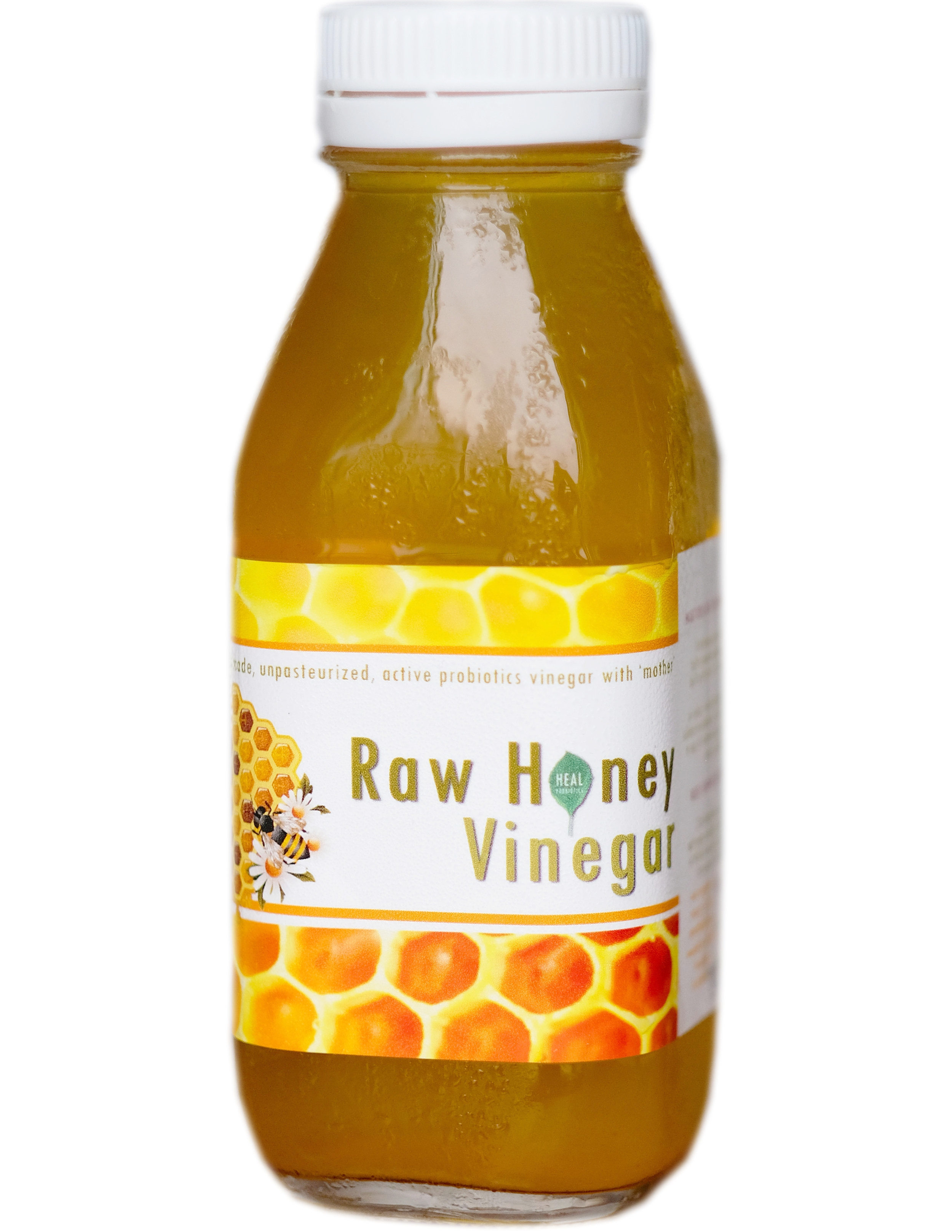 Who doesn't know the health benefits of raw, probiotics-ladden vinegar? Alas, high quality apple cider vinegars are costly, both in price and environmental impacts they incur, as they are imported from faraway land.  This Raw-Honey Vinegar was crafted by utilizing the best raw local forest honey we can get our hands on. Unlike apple cider, this vinegar contains bee pollen and propolis carried over from the honey, and glucuronic acid for liver detox.  Brewed for months and months, it still has a pleasant sweetness to it. Use it in salad, in recipes, vinegar drinks and many more.  Ingredients: Mineral water, cultures, raw honey, Java oolong tea  Packaged in 300 ml glass bottle, 100% recyclable, reusable, and  refundable