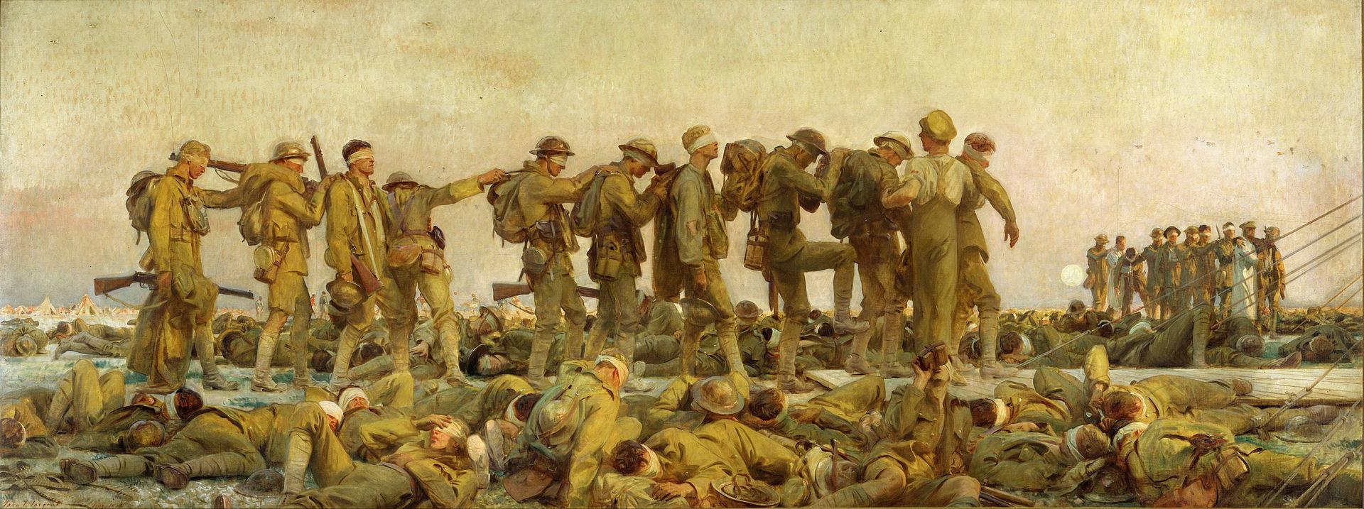 John Singer Sargent. Gassed, 1918. The Imperial War Museum, London