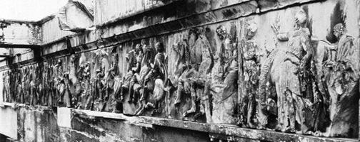Entablature Frieze on the Parthenon, the Acropolis, Athens, Greece. 447-432 BC