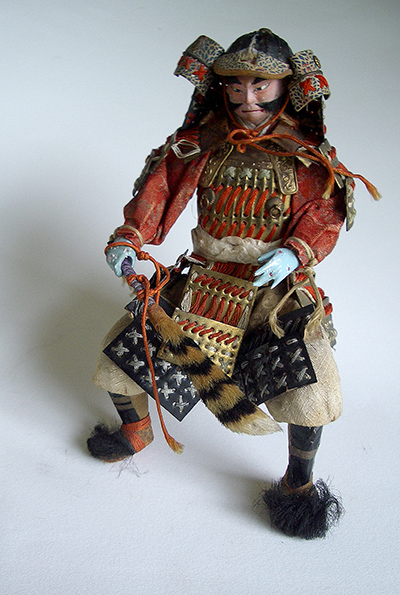 My Ningyo Samurai. The armour is from the Kamakura period (1185-1333)
