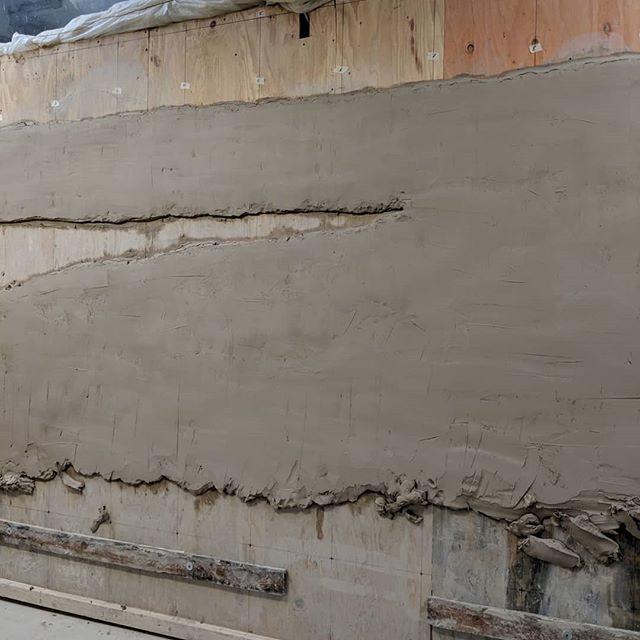The beginning progress of another 14ft of the 240ft mural.  #art #ceramics #ceramicsculpture #ceramicart #handmade #muralart #mural #publicart #betourneceramics