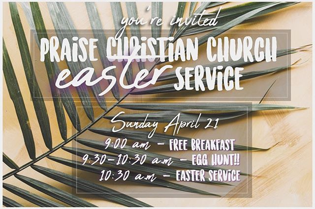 He is Risen! Join us for our Easter service and celebration this Sunday! Families and friends are all invited 🌿