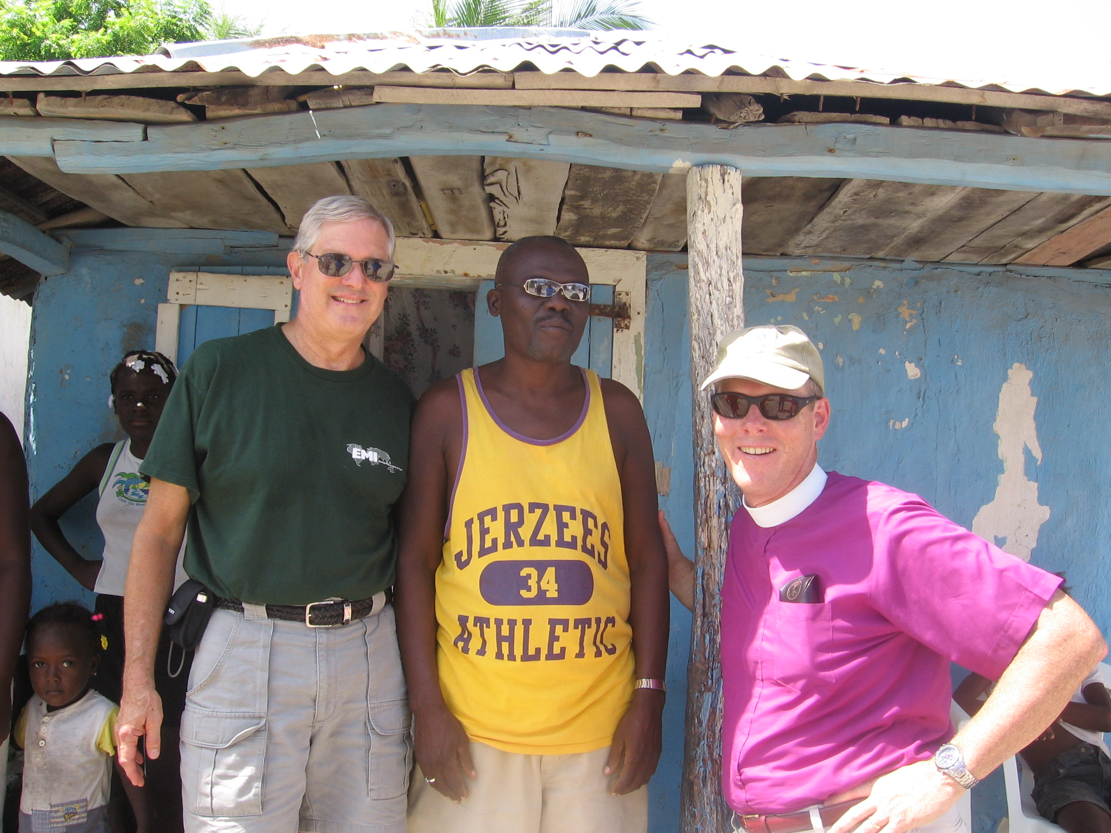 Dr. Ted Lewis, Jean Pierre (a translator, Petit Trou resident, and longtime friend of CHP), and Bishop Rob