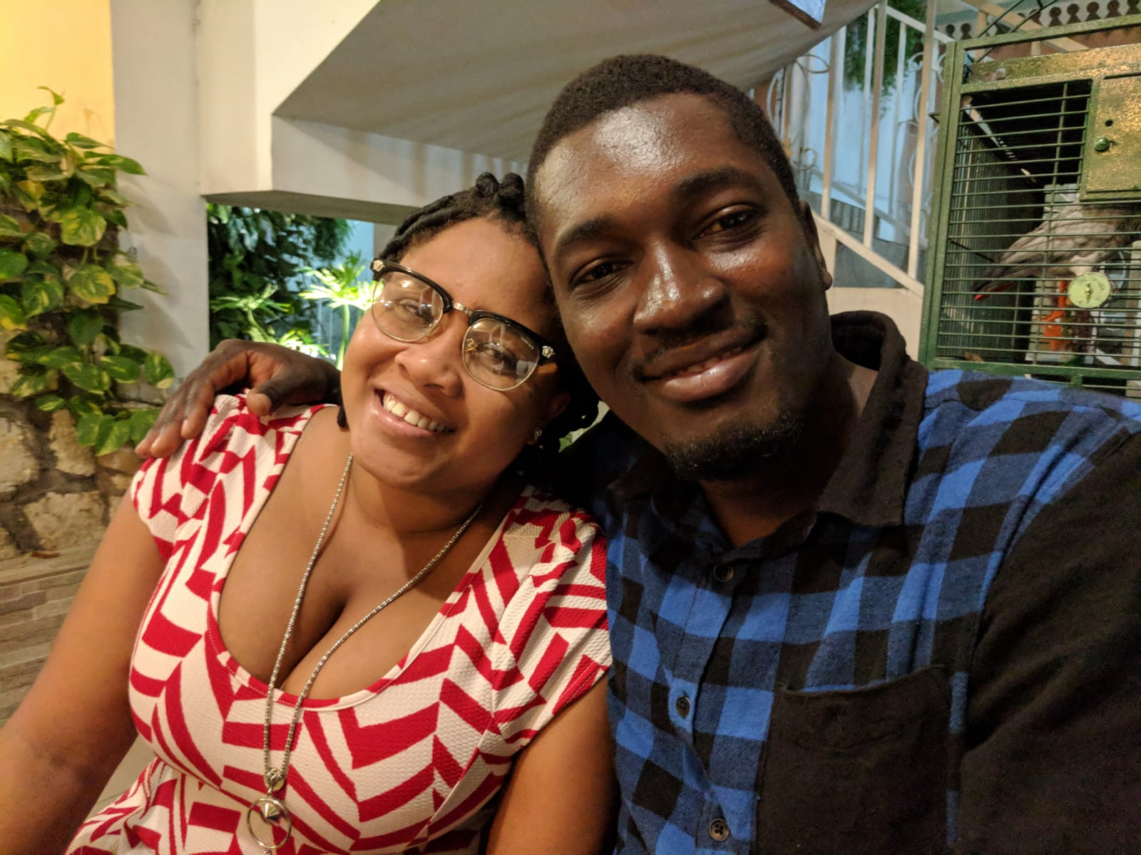 Raphael and his girlfriend Jenny enjoyed some time in Port au Prince during his vacation time from teaching (he didn't spend  all  the time working on his university report).