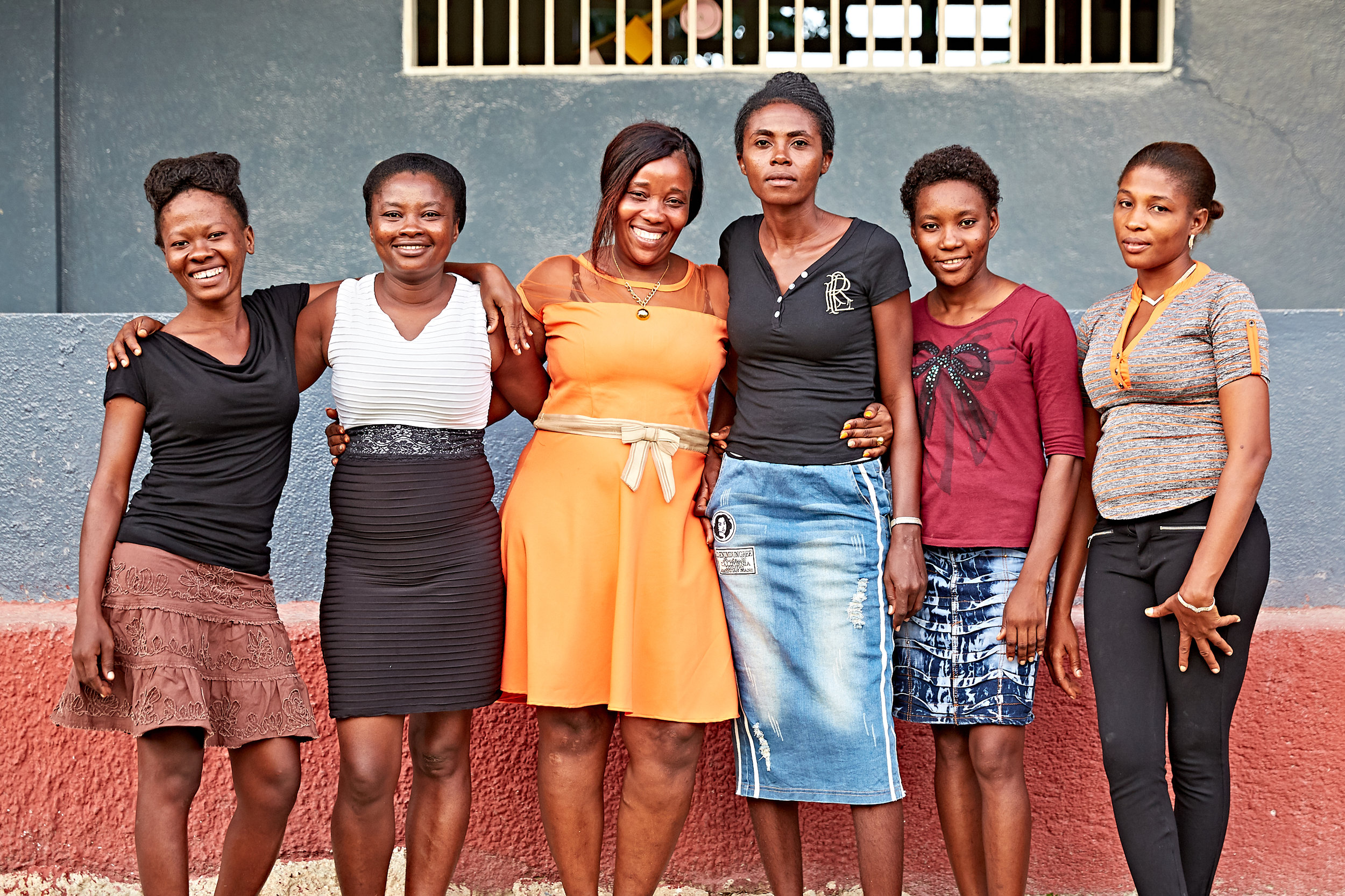 Pictured above (left to right): Francoise, Elmina, Natalya, Nadine, Micheline, and Darline
