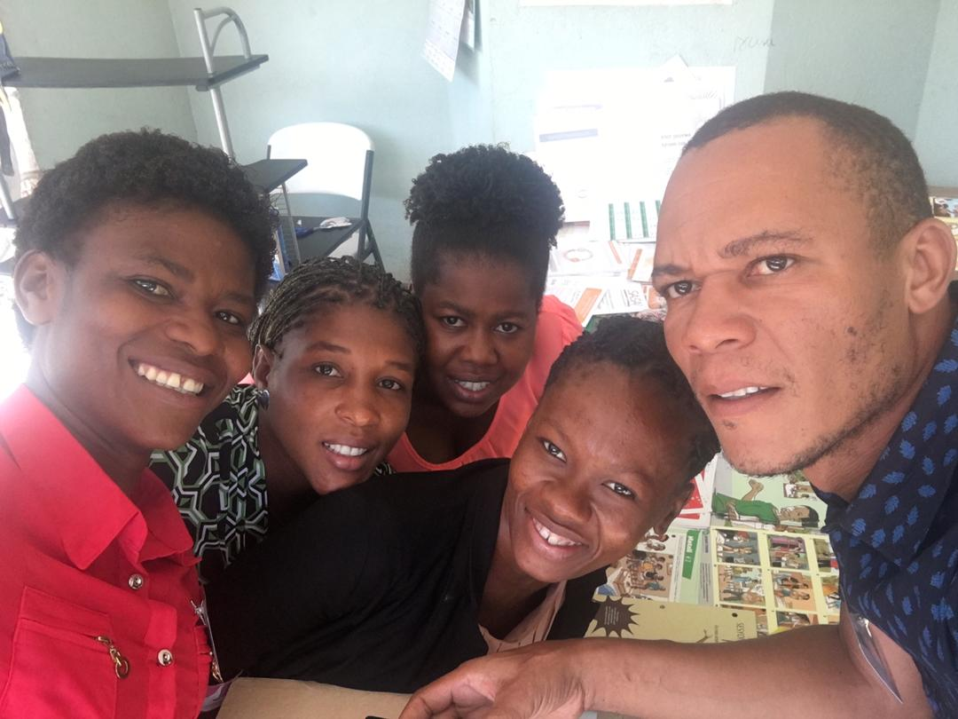 Petit Trou leaders took a break from the training to send in a selfie! Photo credit: Patrick Desir