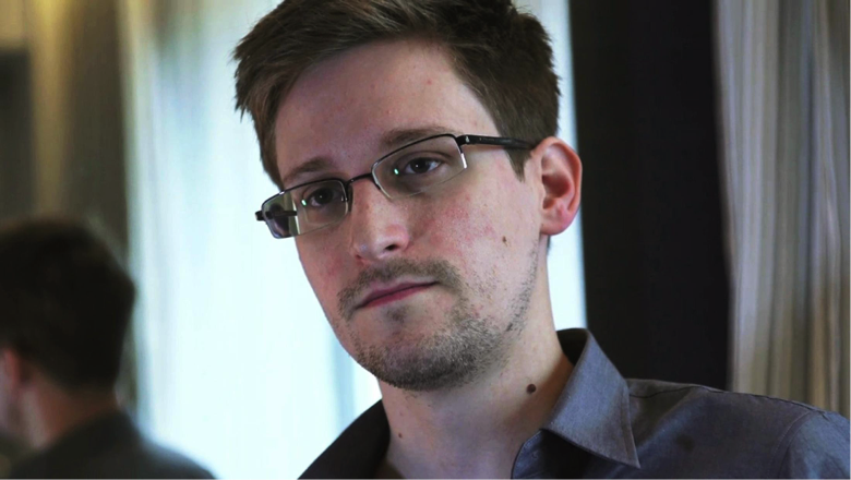 NSA whistle-blower Edward Snowden in a still image taken from video during an interview