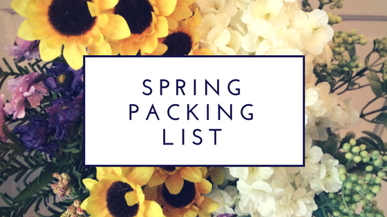 Spring Packing List