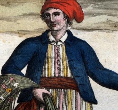 An artist's rendering of Jeanne Baret, the 18th-century cross-dressing botanist lover of Philibert Commerson.