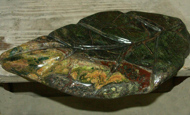 leaf Soap dish made from granite tile