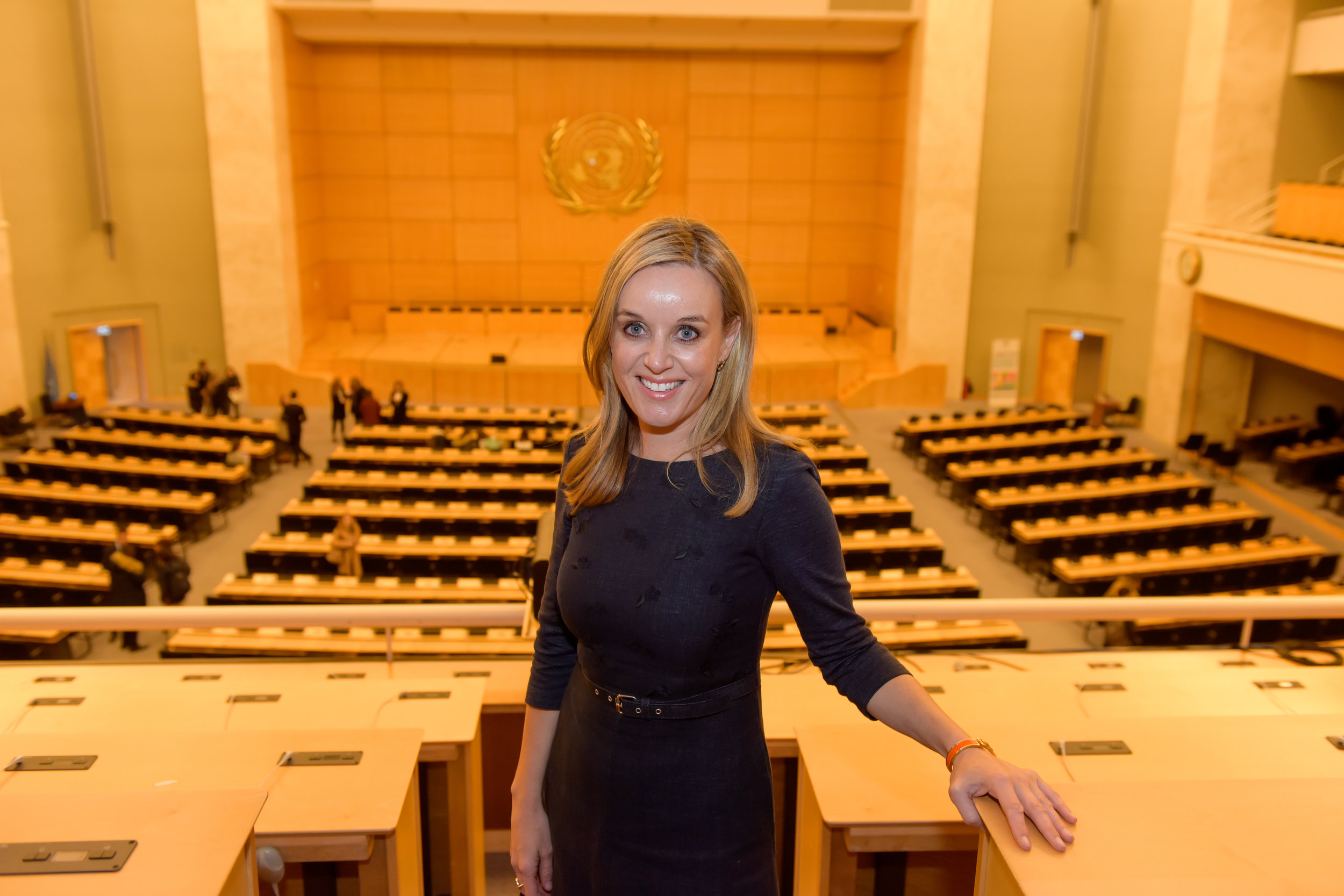 Clare at the UN, Geneva, 2017.