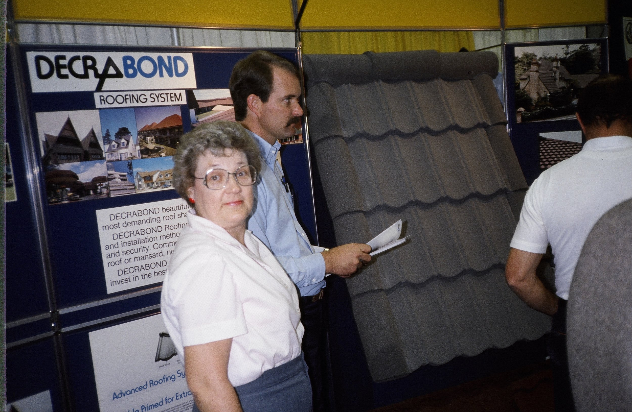 Steve at one of the first home shows The Original Roofing Center did back in the early 80's!