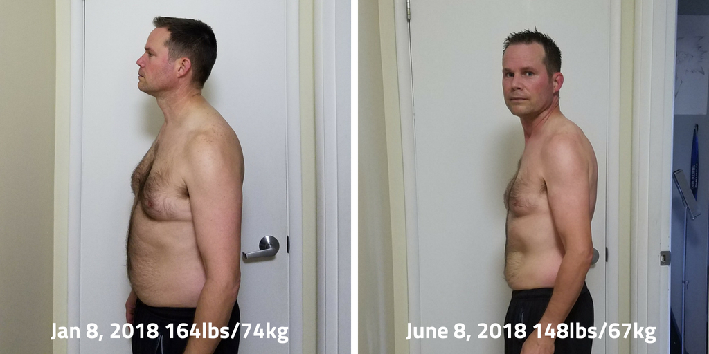By January 8, I had already been on the Fit Father program for a month and 8 days and had lost 16 pounds.