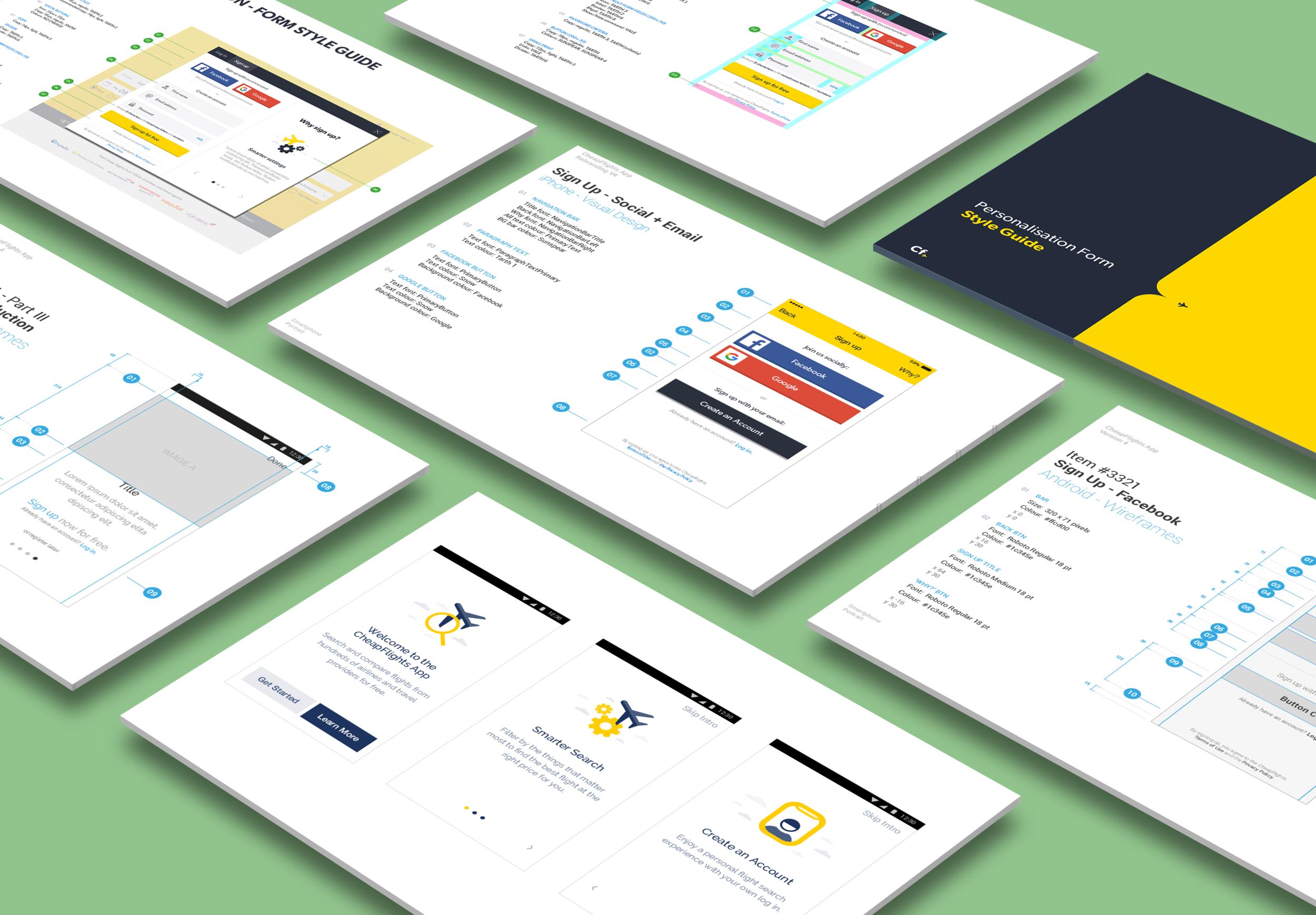 Rebranded app and web form guidelines (including UI design and app walkthrough)