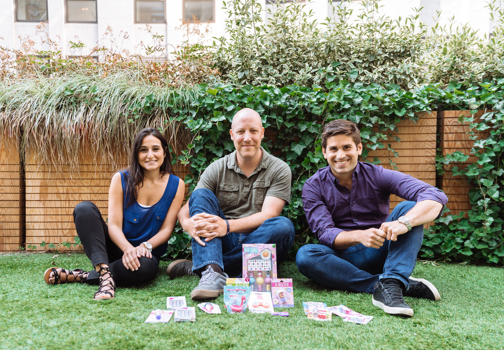 Taste Beauty co-founders Sabrina Vertucci, Tom Crowley and Alex Fogelson (left to right)
