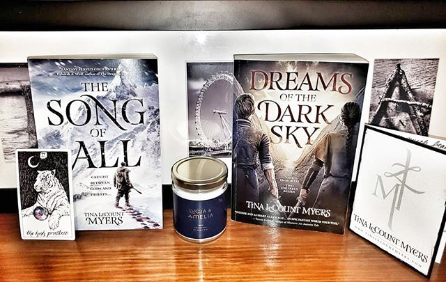 """Thank you, @WunderbooksPR, for including us in the book box! Thank you, Tracy at @ThePagesInBetween, for the original post and loving our Luke! And thank you, Tina LeCount Myers, for being so talented and releasing the second book in your trilogy, #TheLegacyOfTheHeavens! ⠀⠀⠀⠀⠀⠀⠀⠀⠀ What people have said: ⠀⠀⠀⠀⠀⠀⠀⠀⠀ """"#GameOfThrones returns to HBO next month—in the meantime fill that void in your life with #TheSongOfAll!"""""""