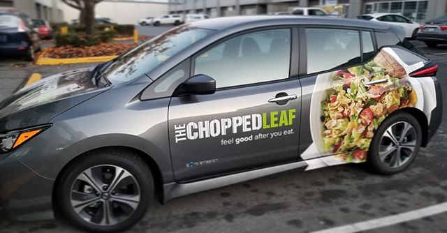 Like lettuce? ☆ Lettuce wrap your ride ☆ 🤣  @thechoppedleaf  #vinyl #vinylwrap #decals  #thechoppedleaf #workcar