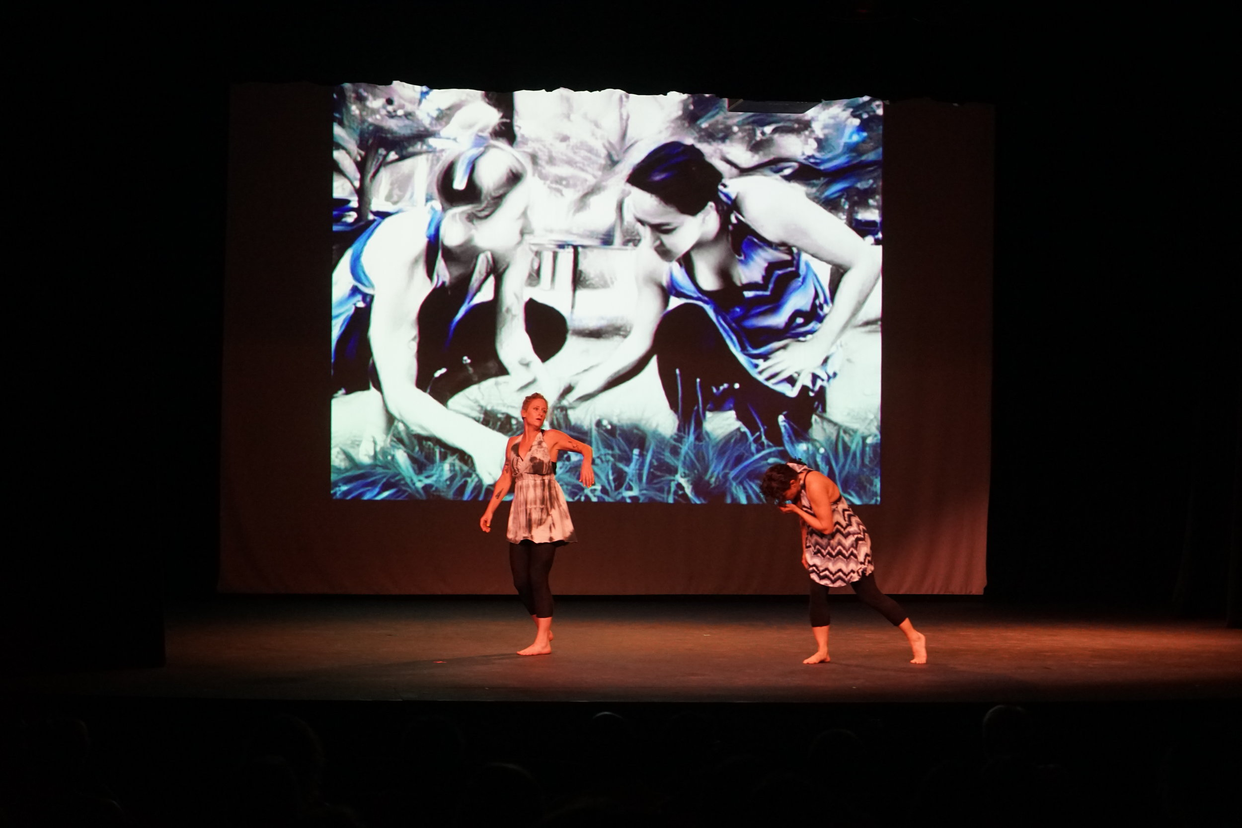 """Memories"" choreographer/media Jen-Jen Lin; dancers: Pegah Kadivar & Sally Bigham"