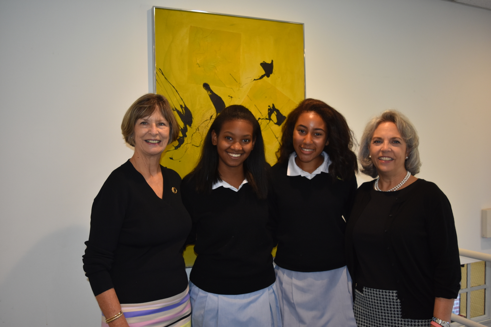 2018 Dr. Ione Dunkley Edwards Scholars with Admin.jpg