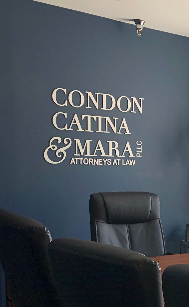 Wall letters laser cut for an attorney's office.