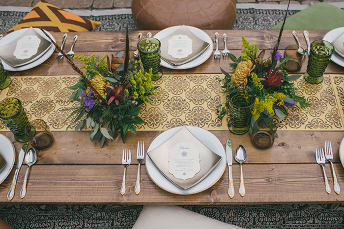 A laser cut table runner made for a style shoot with  A Darling Day Photography .