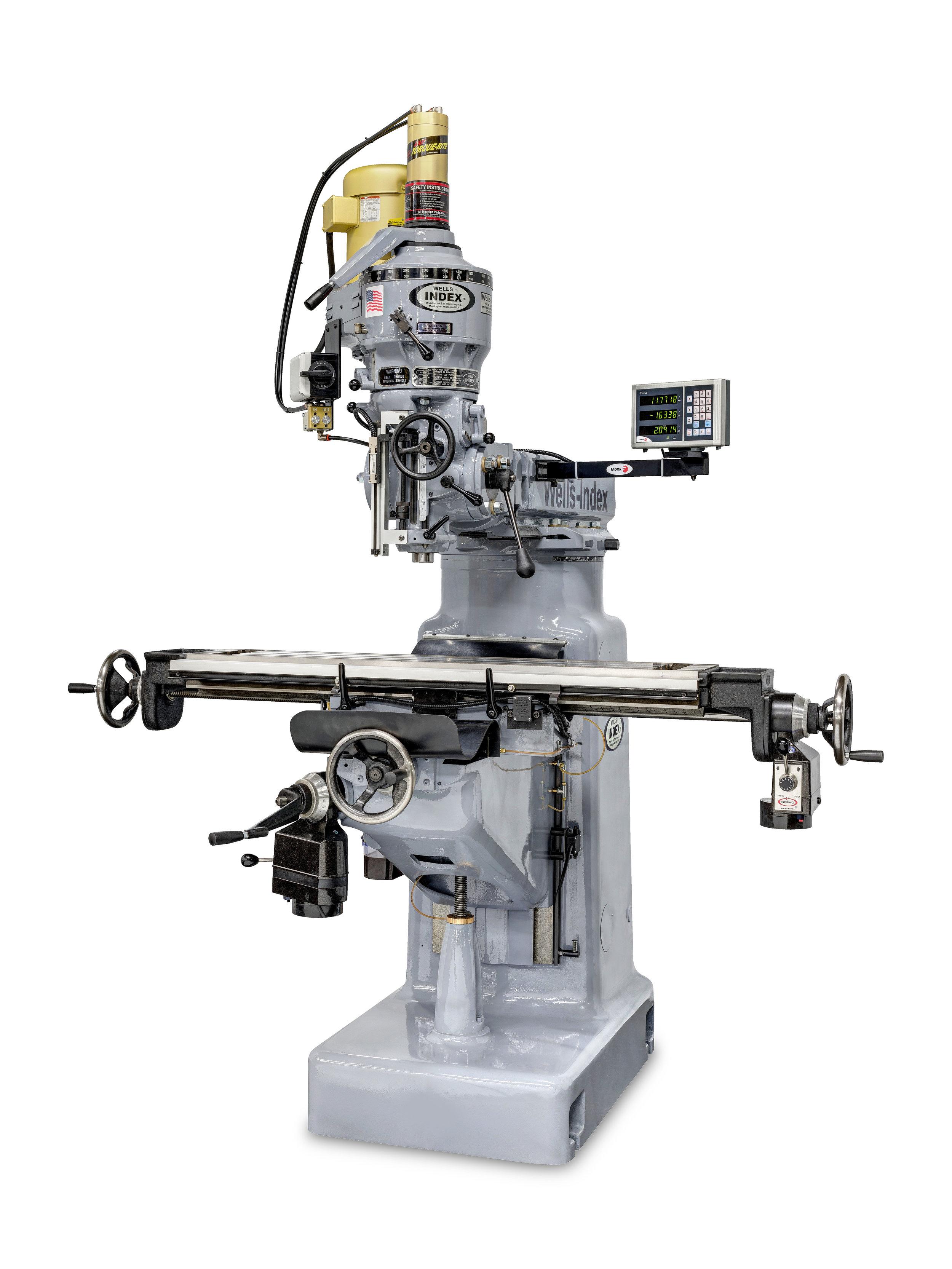 Wells-Index 847 Manual Milling Machine Blue Photon with power drawbar