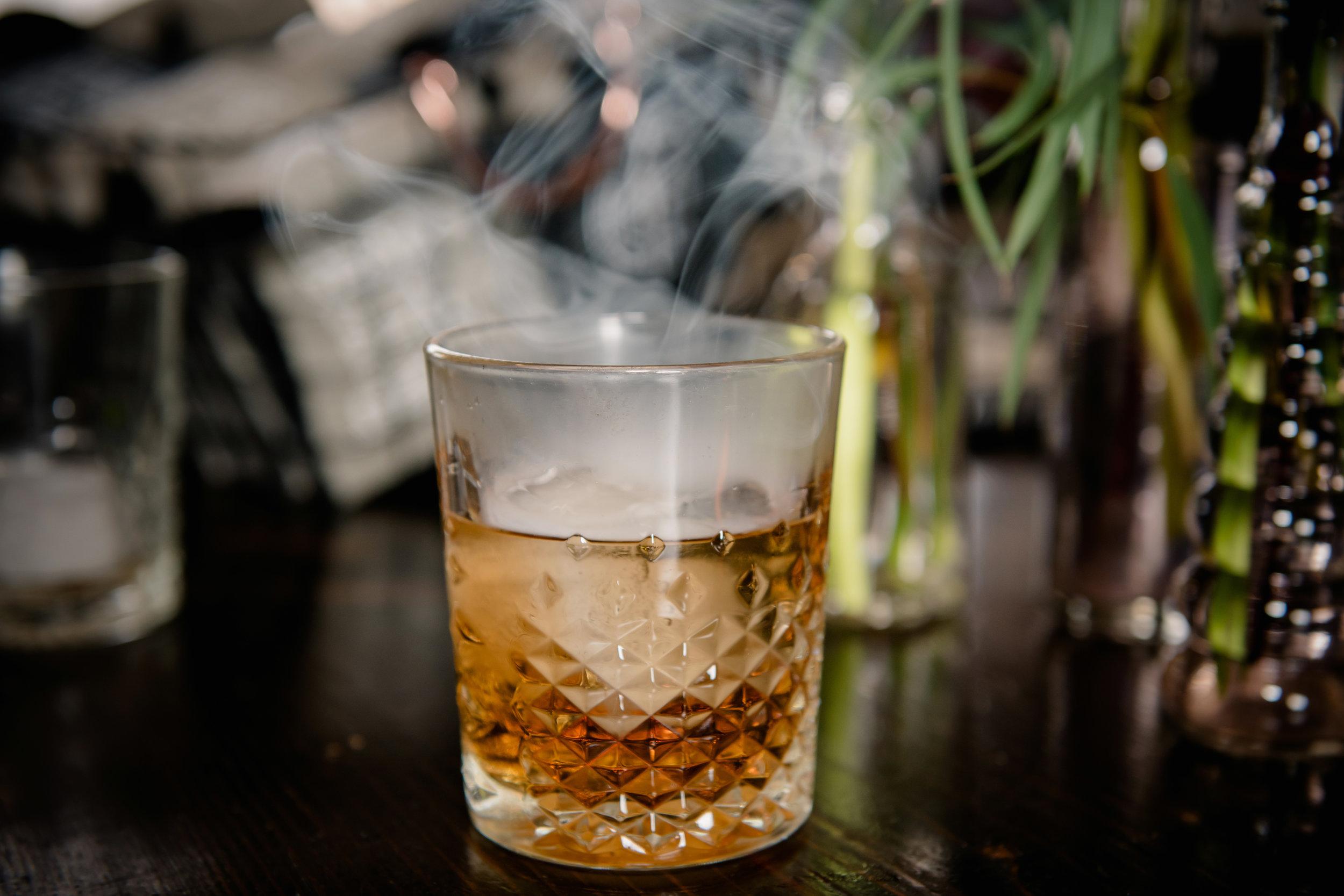 Cedar Smoked Observation Peak Cocktail