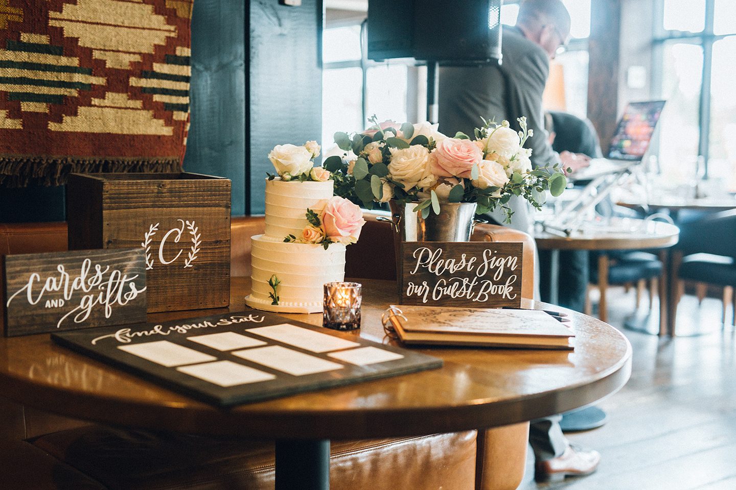 Gift & cake table
