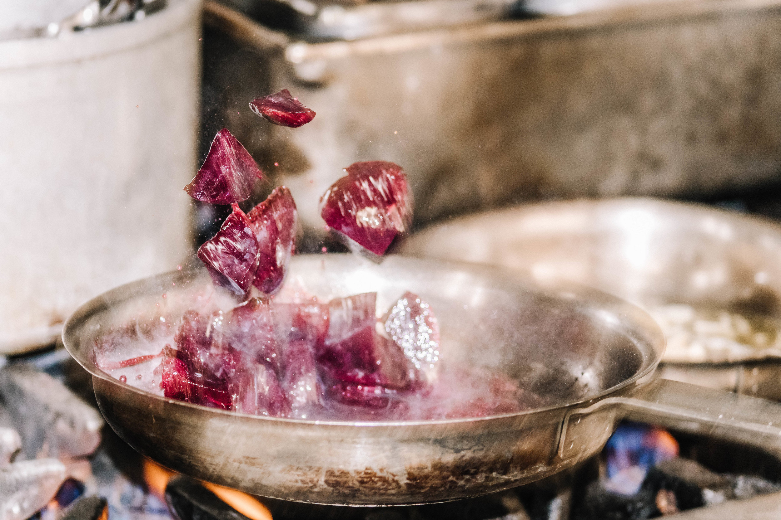 Sizzling beets