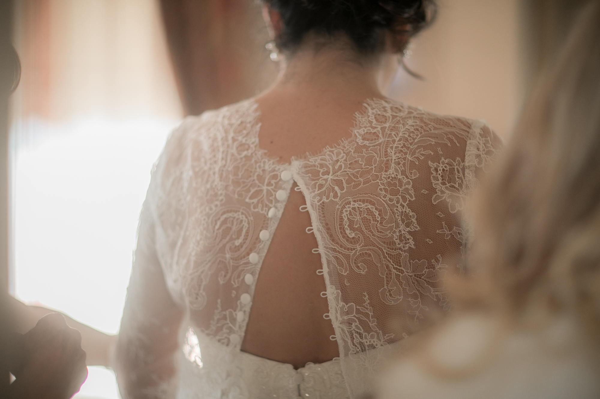 Staci had three looks to her dress the day of the wedding. This beautiful bolero was the second.