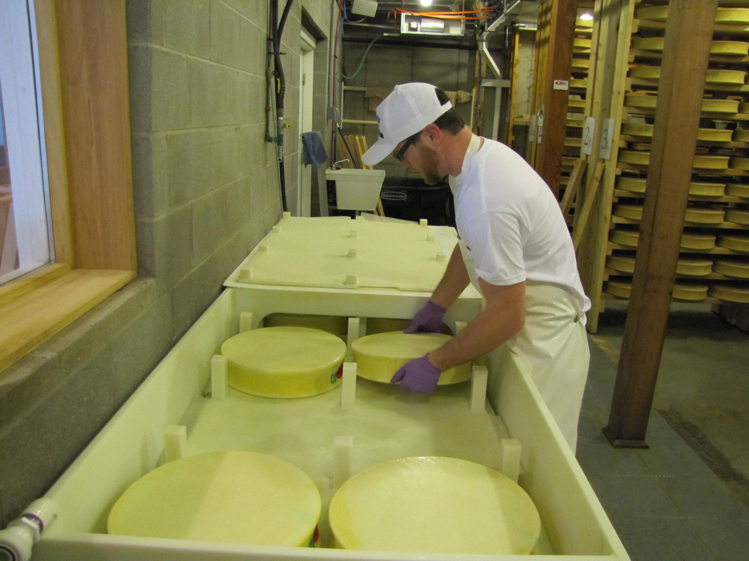 Brining the Cheese