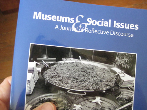 The Living Cookbook, 2012. I published an essay in Museums and Social Issues about the effects of Meal Ticket on the culture of Portland Art Museum