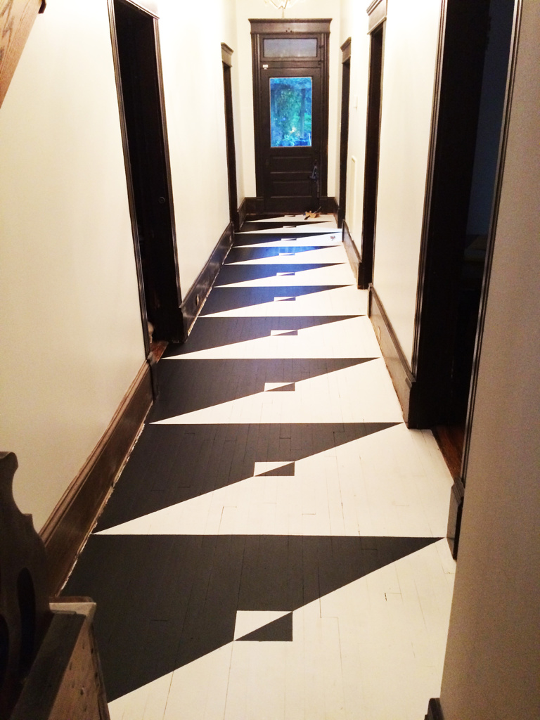 Geometric Painted Floor in Historic East Nashville Home
