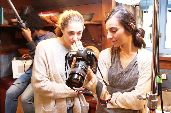 Genevieve with director of photography, Christiana Charalambous