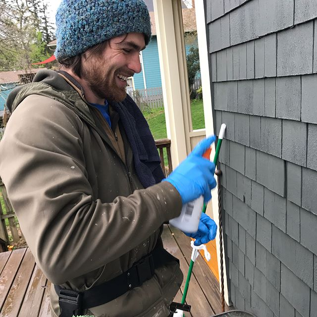 Hard water stains are mineral deposits that do not come off with regular window cleaning techniques. But with the help of some special cleaners it can come right off!