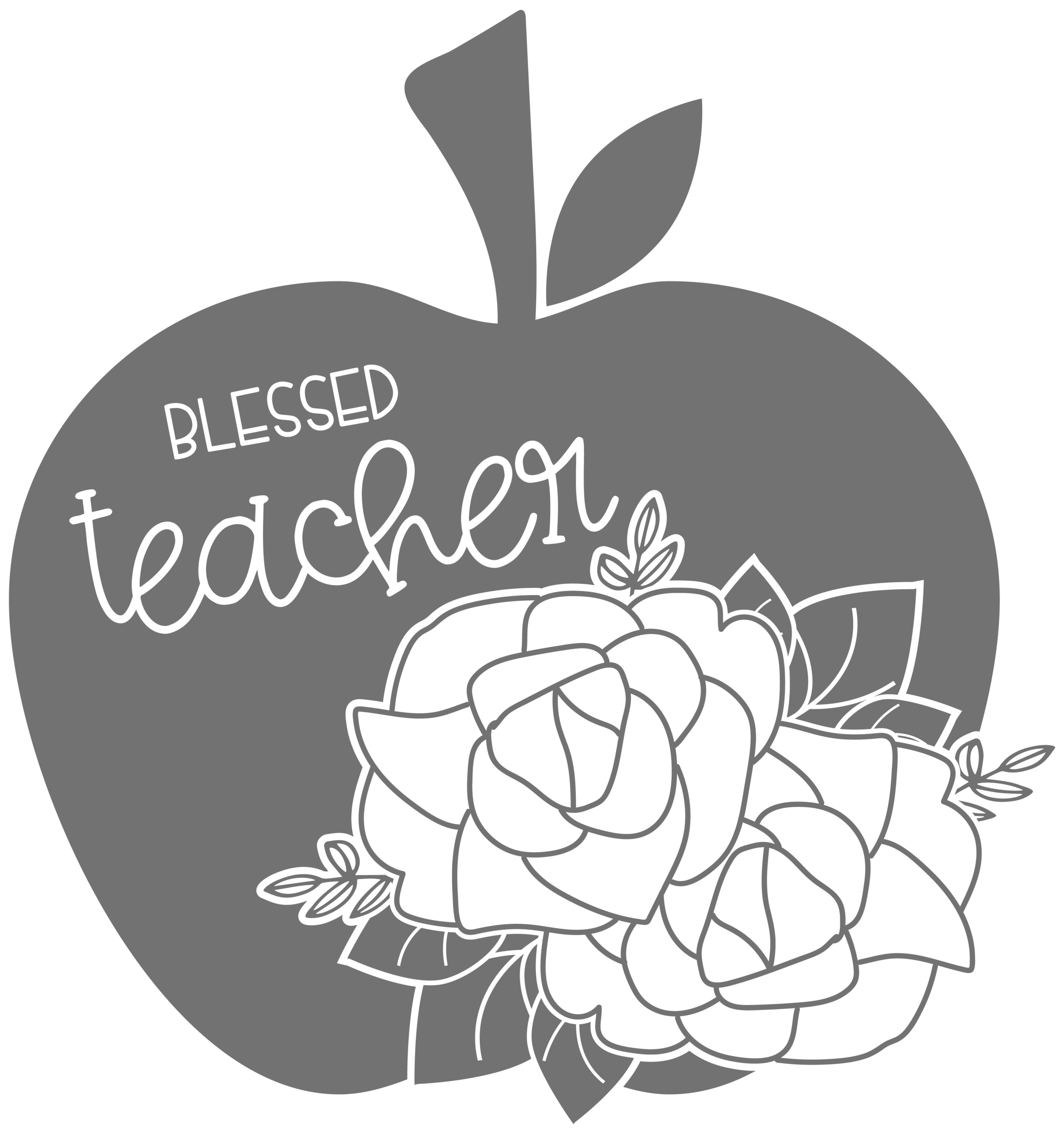 Blessed Teacher Floral Apple.png