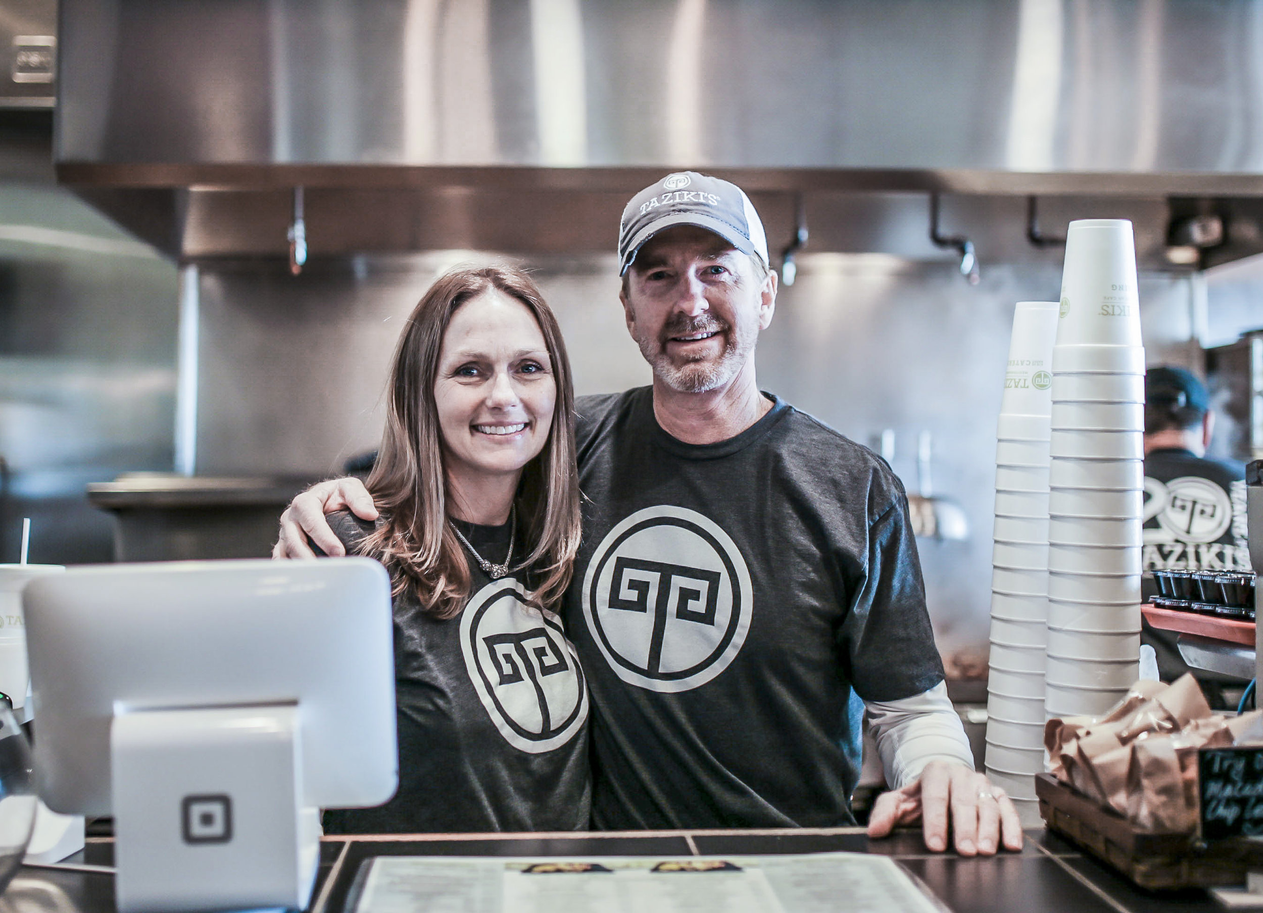 Keith and Amy Richards   Founders of Taziki's Cafe