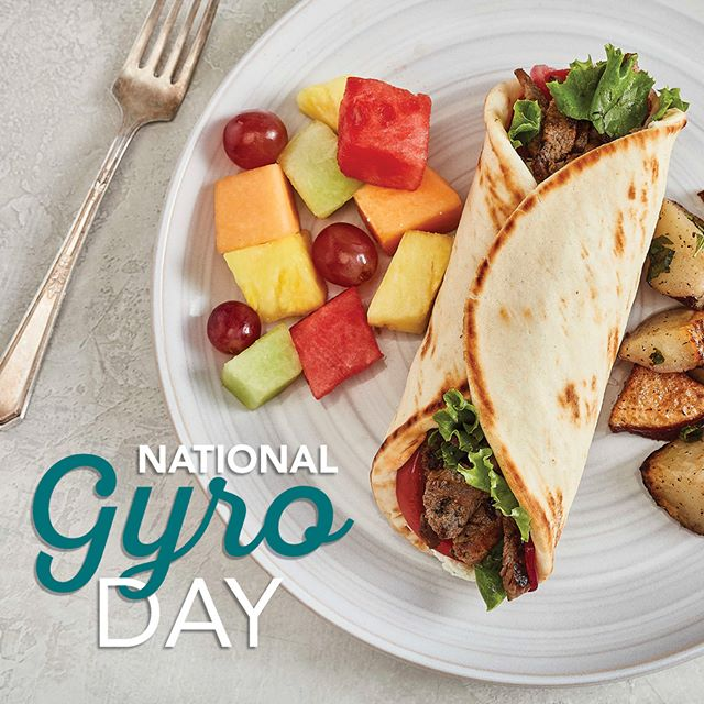 Happy National Gyro Day! Order your gyro through our mobile app for a chance to win free gyros for a year. We will announce a winner on Monday, September 3rd! #nationalgyroday #tazikis #livethegoodlife