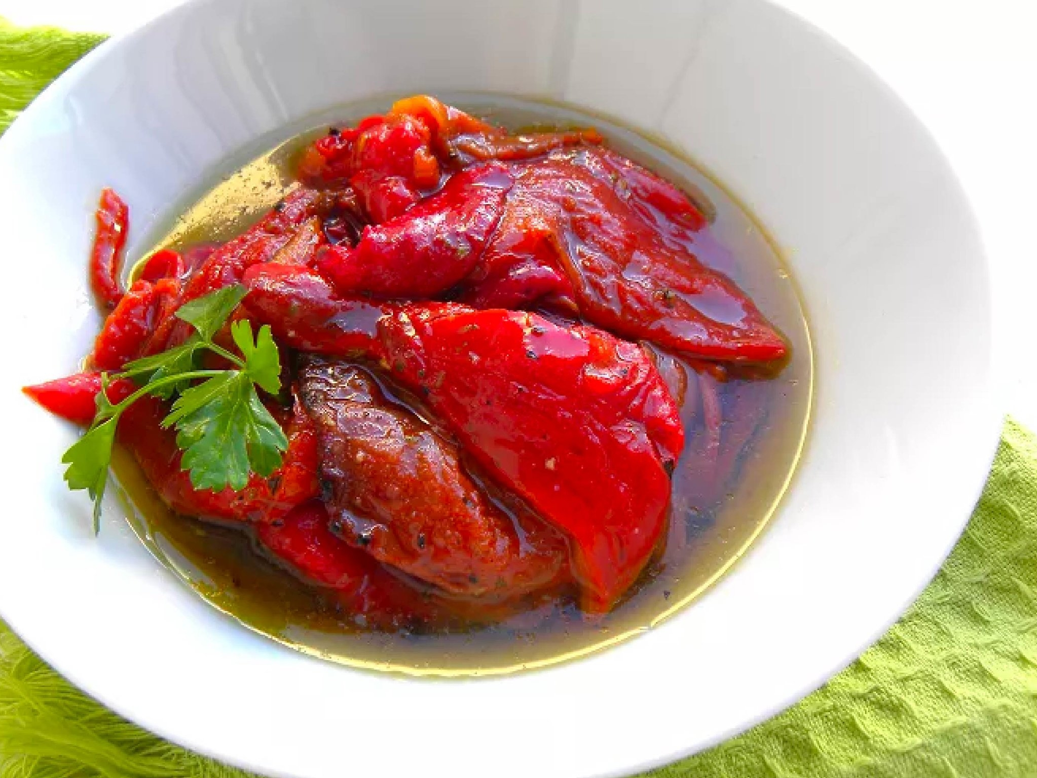 roasted greek red peppers