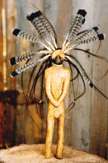 Carved wood effigy