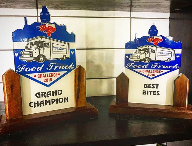 So its wasn't a repeat but it's still awesome. 2 trophies on our mantle and now we are gunning for the belt! We are in NRH at the Sound of Spring concert series tomorrow. . . .  #food #foodie #foodart #foodtruck #dentoning #denton #farmtofoodtruck #farmtotable #txfoodtruck #txfoodies #foodporn #UNT #gomeangreen #flowermound #flomo #foodporn #outdoorkitchen #lantana #texas #local #barbeque #woodfiredoven #winning