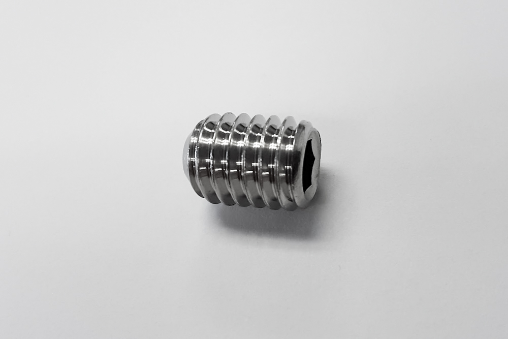 3/8-16x1/2 Cup Point Set Screw, Stainless Steel   - .35¢