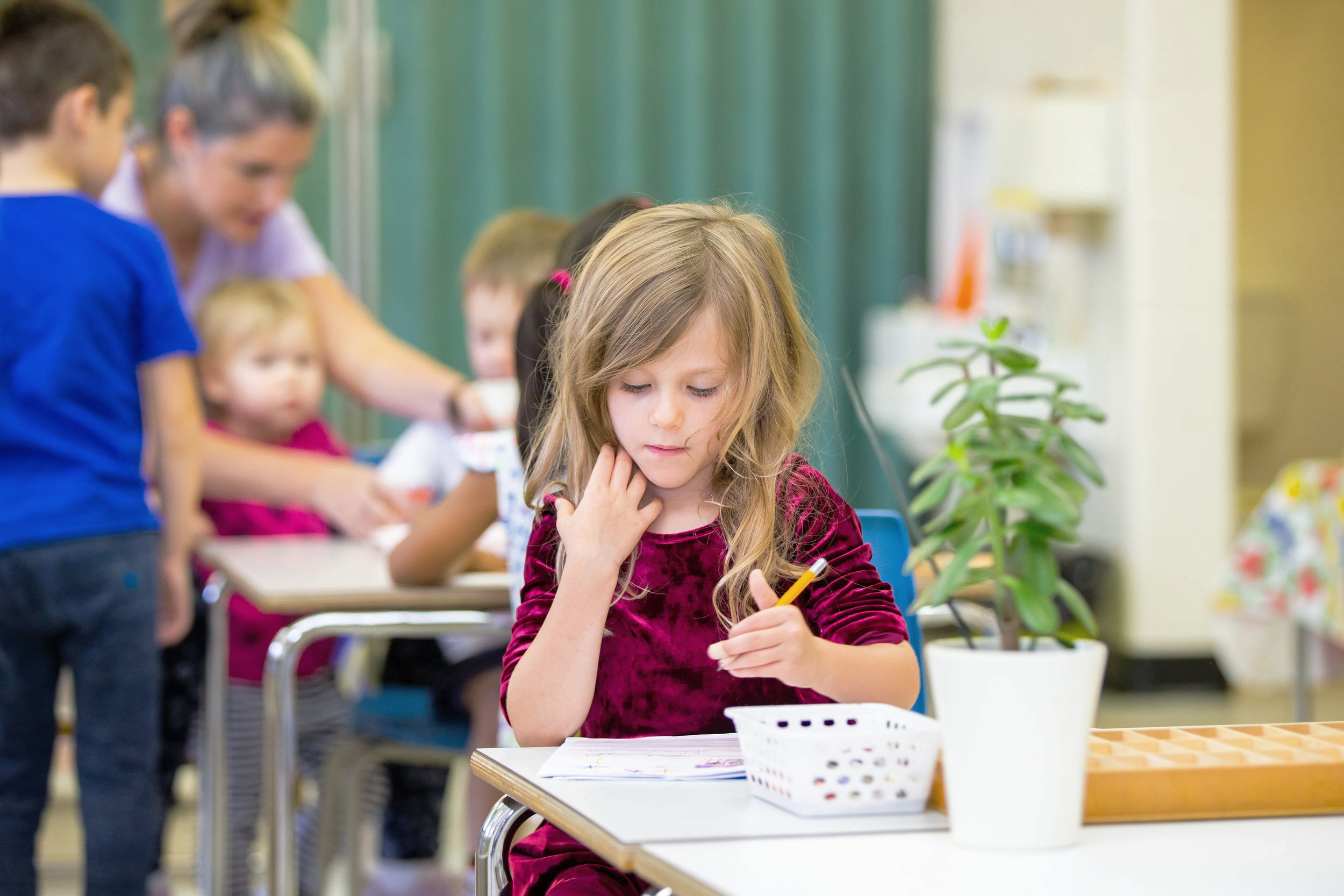 """""""Education of even a small child does not aim at preparing him for school, but for life."""" - - Maria Montessori"""