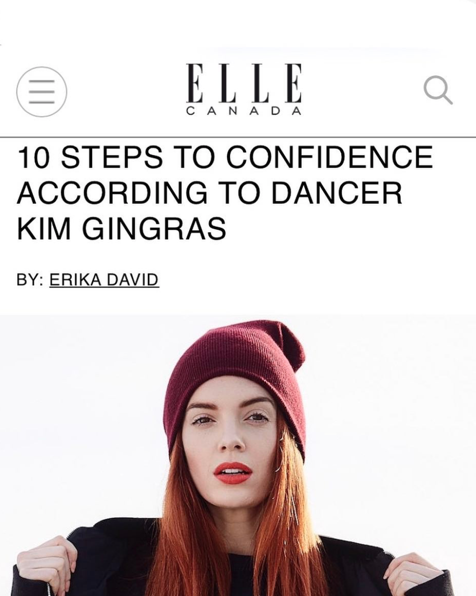 """ELLE Canada - """"STEP 7: Have a strong support system. Be picky about who you surround yourself with because you're giving your energy, and your energy is precious. You need people that motivate you, uplift you, and challenge you on the daily."""" - Kim Gingras"""