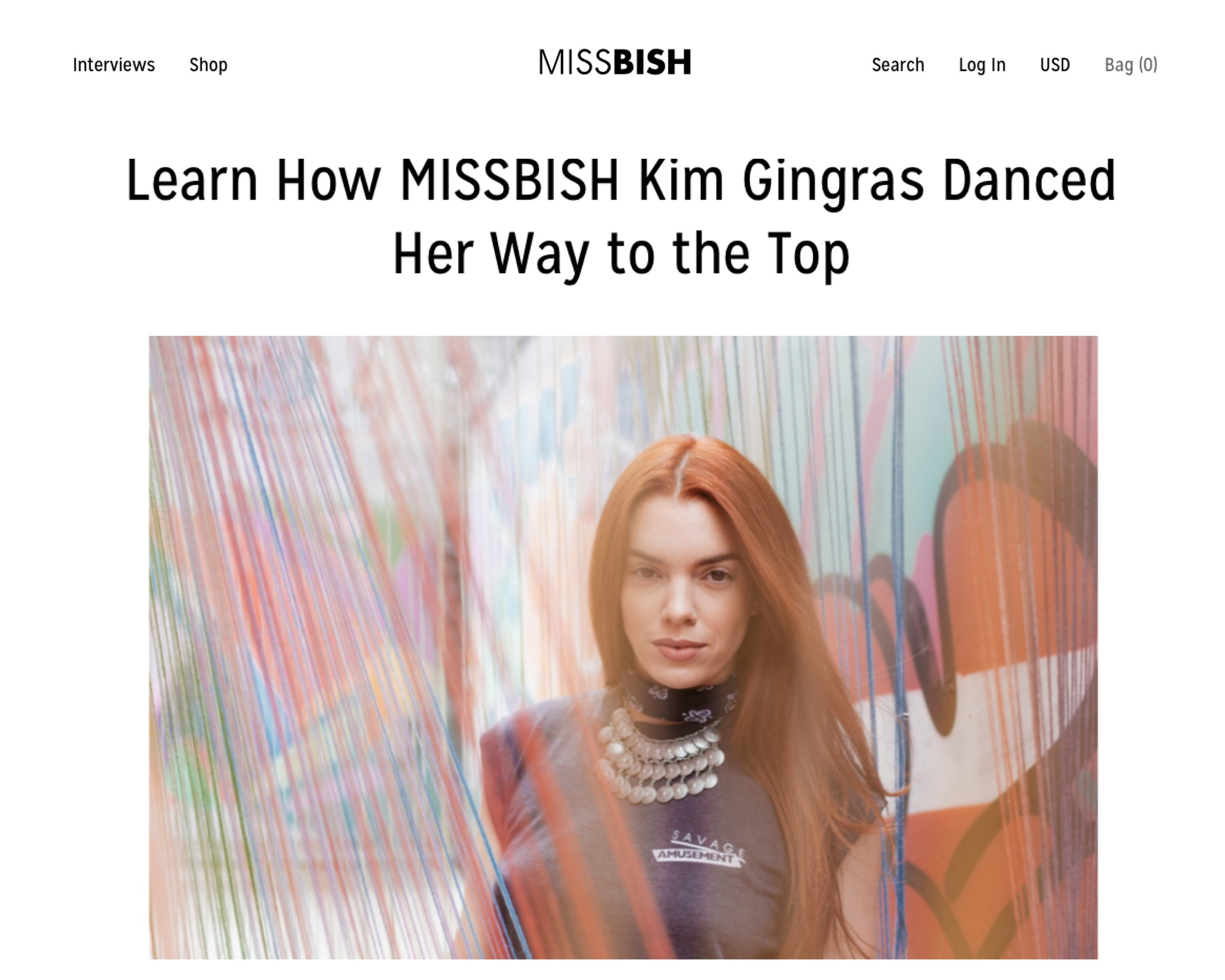 """MISSBISH - """"Kim Gingras in three words? Graceful, passionate and a MISSBISH. Gingras has been through rigorous dance training throughout her life that has helped shape the strong mindset that she has today. Read the interview below to learn more about her struggles and triumphs."""" - Anna Maconachy"""