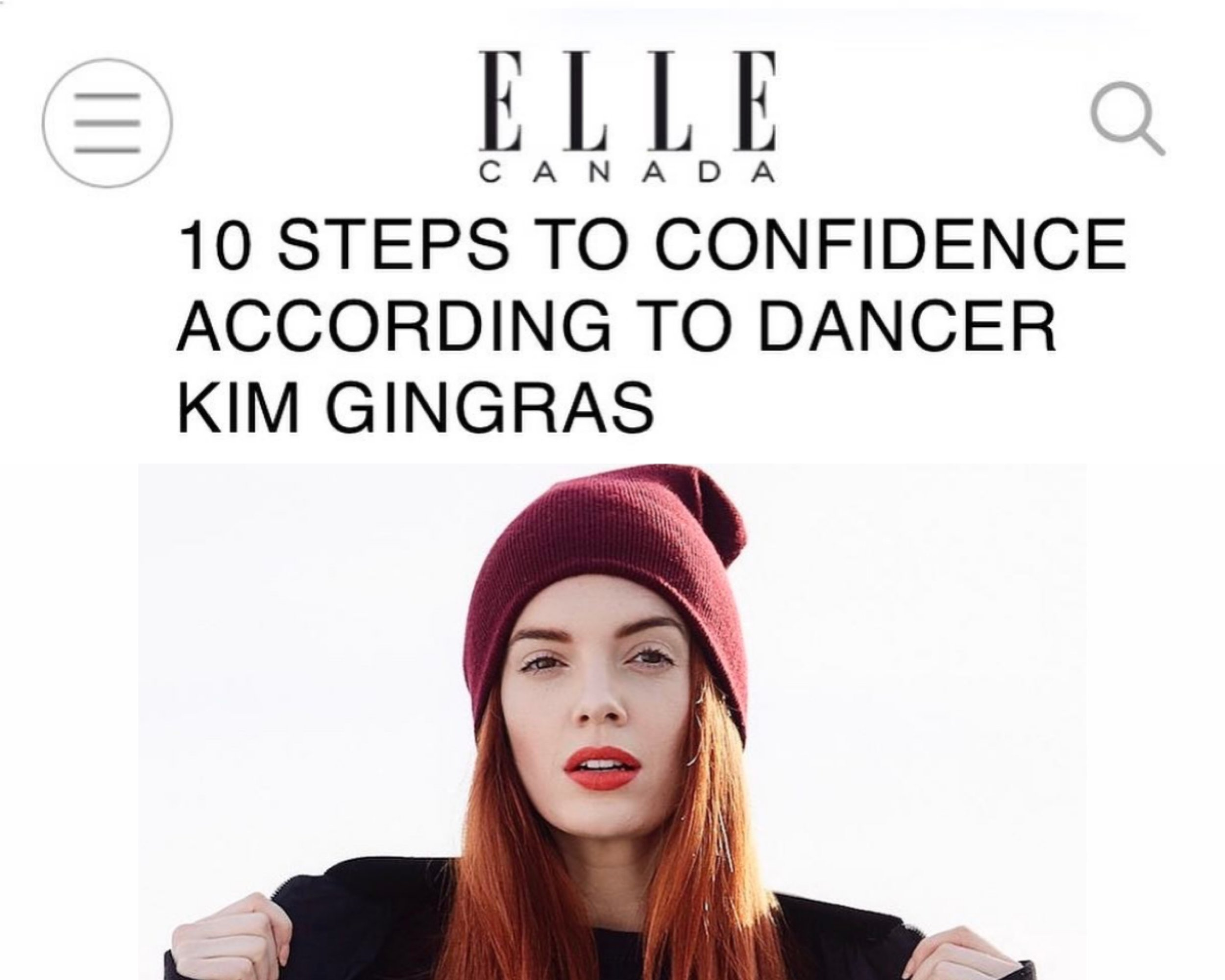 """ELLE CANADA - """"STEP 7: Have a strong support system. Be picky about who you surround yourself with because you're giving your energy, and your energy is precious. You need people that motivate you, uplift you, and challenge you on the daily."""""""